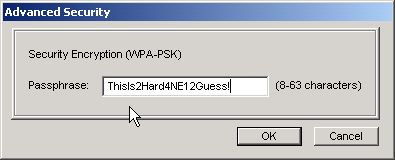 Set WPA encryption key