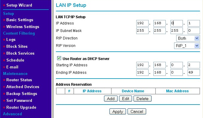 Original LAN IP address