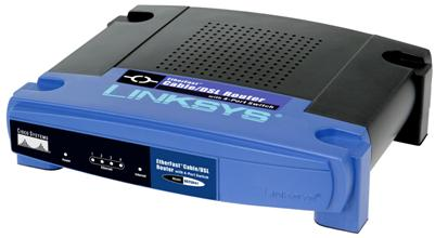 Front of Linksys BEFSR41 home network router