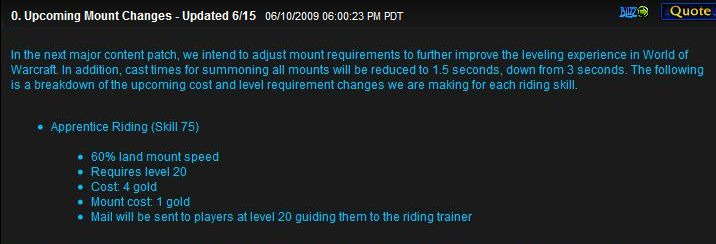 Example of WoW improvements